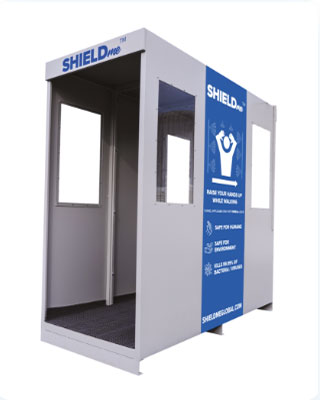 ShieldMe disinfection sanitising tunnel